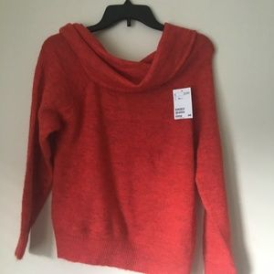 H&M red cowl neck Large SWEATER. BLOUSE. NWT